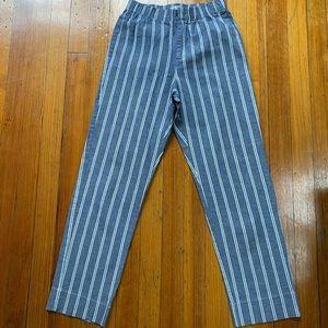 John Galt cotton striped high waisted pants.